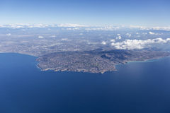 Rancho Palos Verdes Aerial nära Los Angeles Kalifornien royaltyfri fotografi