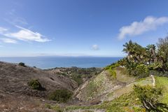 Rancho Palos Verdes View Towards Catalina Island Royalty Free Stock Photo