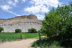 Rancho rural del país de la barranca de Utah Foto de archivo