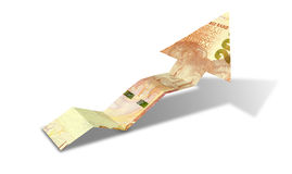 Rand Bank Note Upward Trend Arrow Royalty Free Stock Images