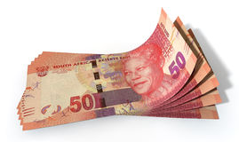 Rand Bank Notes Spread Stock Foto