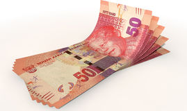 Rand Bank Notes Spread Royalty-vrije Stock Afbeelding