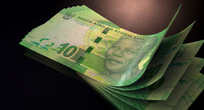 Rand Bank Notes Spread Royalty Free Stock Images