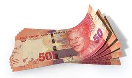 Rand Bank Notes Spread Stock Photo
