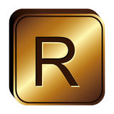 Rand currency symbol icon Stock Images