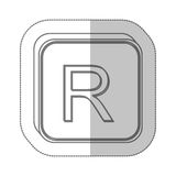 Rand currency symbol icon Stock Photography
