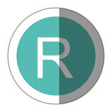 Rand currency symbol icon Royalty Free Stock Photos