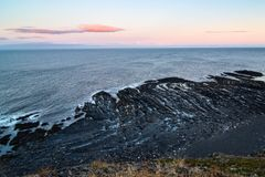 Am Rand der Erde Kap Kekursky stockfotos