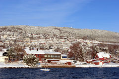 Rand des Fjords Stockfotografie