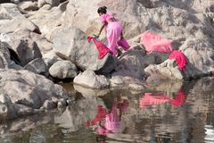 Am Rand des Flaums in Indien - Orchha stockbilder