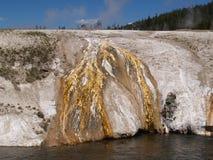 Rand des Gletschers   Stockbild