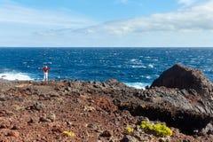 Am Rand des Ozeans Stockfotografie