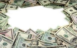 Rand gebildet vom Geld Lizenzfreie Stockbilder