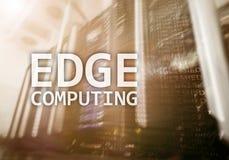 RAND gegevensverwerking, Internet en modern technologieconcept op de moderne achtergrond van de serverruimte stock foto