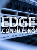 RAND gegevensverwerking, Internet en modern technologieconcept op de moderne achtergrond van de serverruimte stock fotografie