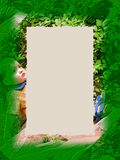 Rand: Grüner Junge Lizenzfreie Stockbilder