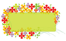 Rand mit bunten Blumen stock abbildung
