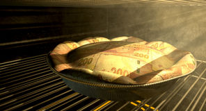 Rand Money Pie Baking In The Oven Stock Image
