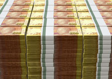 Rand Notes Pile Images stock