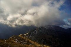 Rand onder de wolk Tatry polen Royalty-vrije Stock Fotografie