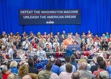 Rand Paul Campaigns in Las Vegas Royalty-vrije Stock Foto's
