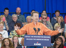 Rand Paul Campaigns at Las Vegas Royalty Free Stock Photo