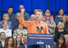 Rand Paul Campaigns at Las Vegas. LAS VEGAS - APRIL 11 :Republican presidential candidate U.S. Sen. Rand Paul speaks during a rally in Las Vegas, Nevada on April Royalty Free Stock Images
