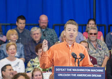 Rand Paul Campaigns at Las Vegas. LAS VEGAS - APRIL 11 :Republican presidential candidate U.S. Sen. Rand Paul speaks during a rally in Las Vegas, Nevada on April Stock Photography