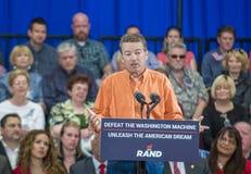 Rand Paul Campaigns at Las Vegas Stock Photos