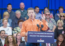 Rand Paul Campaigns at Las Vegas. LAS VEGAS - APRIL 11 :Republican presidential candidate U.S. Sen. Rand Paul speaks during a rally in Las Vegas, Nevada on April Royalty Free Stock Image