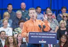 Rand Paul Campaigns at Las Vegas Royalty Free Stock Image