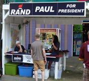 Rand Paul. SAINT PAUL- AUGUST 30: Rand Paul for President booth at the Minnesota State Fair. As seen on August 30, 2015 in Saint Paul, Minnesota stock image