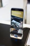 RAND SAMSUNGS-GALAXIE-S7 - BEWEGLICHER WELTkongreß 2016 Lizenzfreies Stockbild