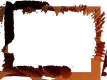 Rand: Schokoladen-Spritzen Stock Abbildung
