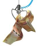 Rand sudafricani in un artiglio robot Fotografia Stock