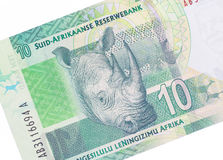 Rand sudafricano diez imágenes de archivo libres de regalías