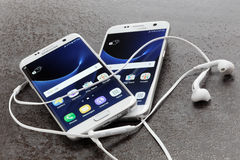 Rand-und Samsungs-Galaxie 7 Samsungs-Galaxie-7 Stockfotos