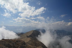 Rand van de berg stock foto