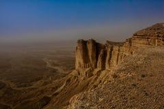 Rand van de Wereld, een populaire toeristenbestemming dichtbij Riyadh, Saudi-Arabië royalty-vrije stock fotografie