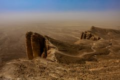 Rand van de Wereld, een populaire toeristenbestemming dichtbij Riyadh, Saudi-Arabië royalty-vrije stock foto's
