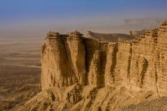 Rand van de Wereld, een populaire toeristenbestemming dichtbij Riyadh, Saudi-Arabië royalty-vrije stock foto