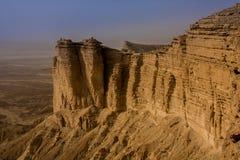 Rand van de Wereld, een populaire toeristenbestemming dichtbij Riyadh, Saudi-Arabië stock afbeeldingen