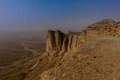 Rand van de Wereld, een populaire toeristenbestemming dichtbij Riyadh, Saudi-Arabië stock fotografie