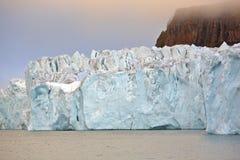 Rand van gletsjer in het Noordpoolgebied Stock Foto's