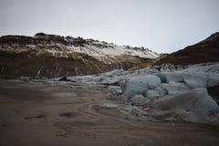 Rand van Ijslandse Gletsjer stock afbeeldingen
