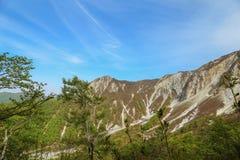 Rand van Onderstel Daisen in Tottori-Prefectuur, Japan royalty-vrije stock foto