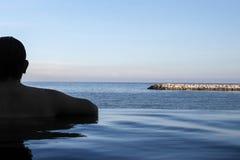 Rand van oneindigheids zwembad Royalty-vrije Stock Foto
