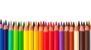 Rand vom Bleistift mit copyspase Lizenzfreie Stockbilder