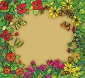 Rand wih Blumen Lizenzfreie Stockbilder