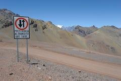 Rand zwischen Chile und Argentinien Stockfoto